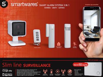 3-in-1 Funk-Alarmsystem / Überwachungssystem, Smartphone APP, erweiterbar