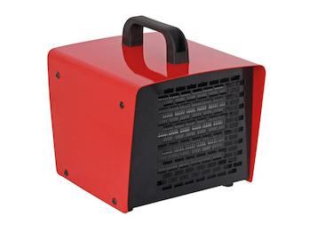 PTC-Bauheizer Heizlüfter 2 Stufen, Ventilator-Funktion, Thermostat, 2000W IP21