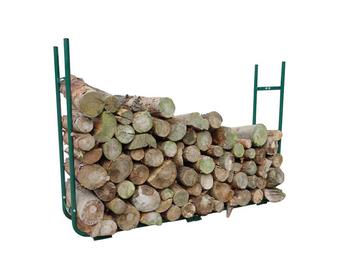 Outdoor Holzablage für Kaminholz Länge 150-220, Breite 21-30cm H:105cm