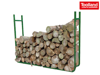 Holzablage, Holzstapel Regal, Stapelhilfe HxBxL: 90 x 20 x 120cm (variabel)