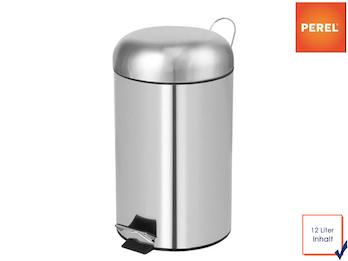 Mülleimer Treteimer, rund Chrom 12L, herausnehmbarem Innenbehälter, Ø 25x43,5cm