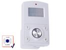 Raum-Alarm / Hausalarm 105 dB, Erfassung: 110° / 8 Meter, Alarmverzögerung