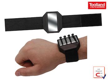 EASY Work Magnet-Armband zum Haften von Schrauben, Nägeln…& anderen Kleinteilen