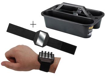 Werkzeugträger Werkzeugkiste aus Kunststoff + EASY Work Magnetarmband