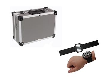 Werkzeugkoffer aus Aluminium Grau mit Kanntenschutz + EASY Work Magnetarmband