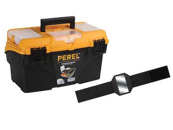 Werkzeugkiste Werkzeugkasten aus Kunststoff + EASY Work Magnetarmband