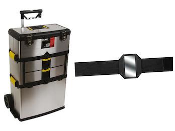 Hochwertiger Werkzeugtrolley aus rostfreiem Stahl + EASY Work Magnetarmband