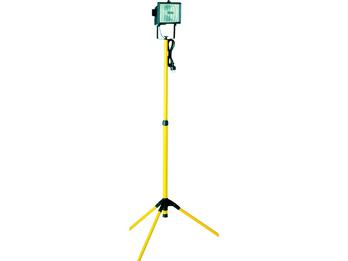 Halogenscheinwerfer 400W mit Stativ, gelb, 2,5m Kabel, IP44