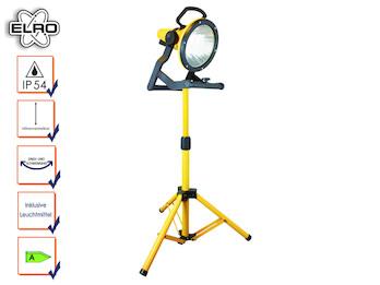 Baustrahler höhenverstellbar mit Energiesparlampe, innen und außen verwendbar