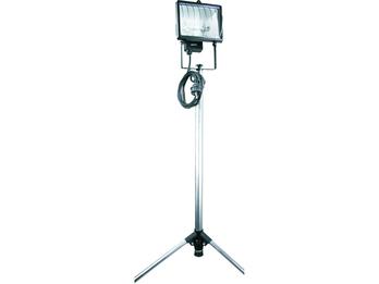 Halogenscheinwerfer 400W mit Stativ, Sicherheitsglas, alugrau, IP54, 2,5m Kabel