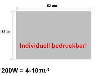 200W Infrarotheizung, bedruckbares Heizpaneel, optimierte Heizleistung, 32x52cm