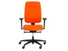 Büro Drehstuhl orange mit Sitztiefenverstellung, 2D-Armlehne, Synchronmechanik