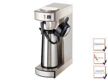 Profi Filterkaffeemaschine mit Thermoskannen, bis zu 140 Tassen / Stunde