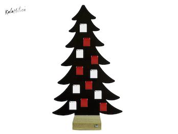 Magnetischer Adventskalender Tannenbaum & 24 Würfel ganzjährige Aufbewahrung