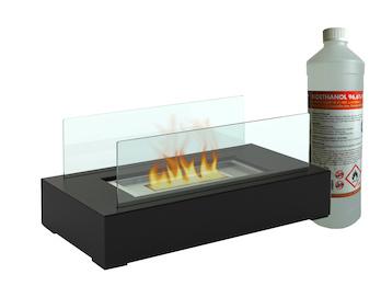 Deko Tischkamin inkl. 1Liter Bio-Ethanol, Tischfeuer für behagliche Atmosphäre