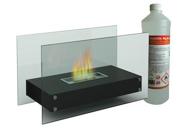 Luxus Tischkamin ca. 70 cm, inkl. 1Liter Bio-Ethanol, Für behagliche Atmosphäre