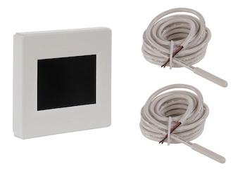 Display Kombi-Thermostat Wochentags- / Absenkprogramm, inkl. 2x Bodensensor