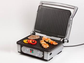 Kontaktgrill Tischgrill abnehmbare Platten & Timer Paninimaker 1800W 29x23cm