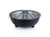 Trendiger Tischgrill Elektrogrill in Schwarz mit Wasserschale, 1250 Watt, Ø 30cm
