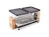 DESIGN Raclette Tischgrill für 8 Personen mit Holz & extra Ablage für Pfännchen