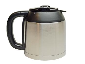 Edelstahl Thermoskanne 1,2 Liter, Ersatzkanne für Kaffeemaschine DO474K