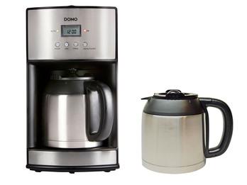 Kaffeemaschine 10 Tassen mit 2 Thermoskannen, Dauerfilter, Timer