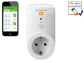 G-Homa WiFi Schaltsteckdose mit Energiekostenmessfunktion per Smartphone-App