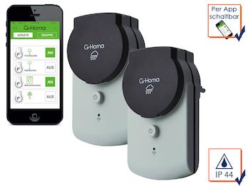 G-Homa 2er SET WiFi Outdoor Schaltsteckdosen, steuern mit der Smartphone-App