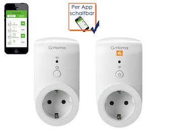 G-Homa WiFi Schaltsteckdose mit Energiekostenmessfunktion + Indoor Steckdose
