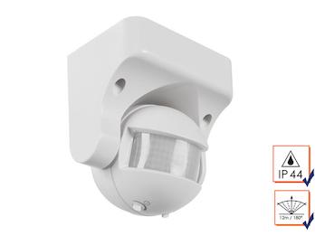PIR-Bewegungsmelder 12m/180°, Deckenmontage, Zeitintervall, max. 1200W