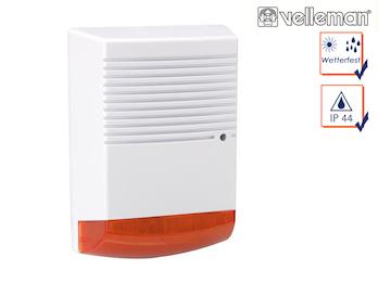 Sirenen Attrappe mit blinkender LED wetterfest Batteriebetrieb