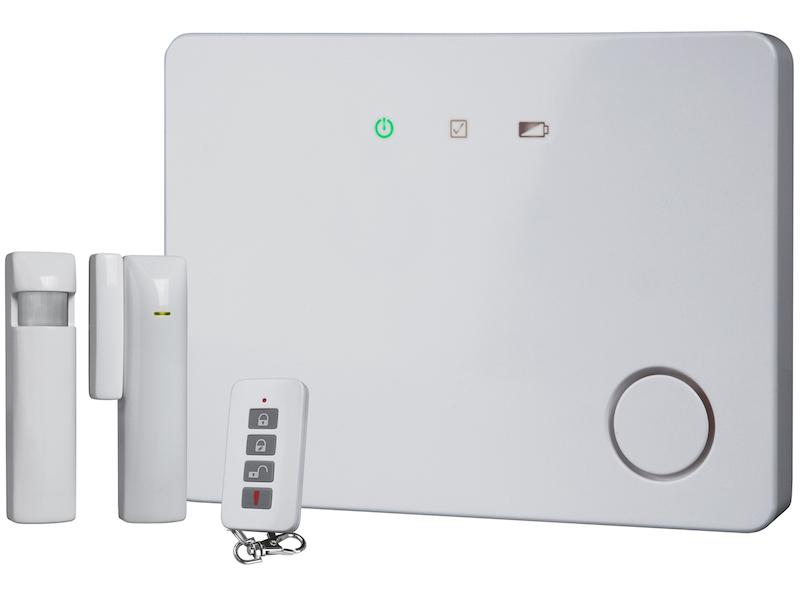 30 Zonen Funk Alarmsystem, erweiterbar, LAN-Anschluss, Smartphone APP