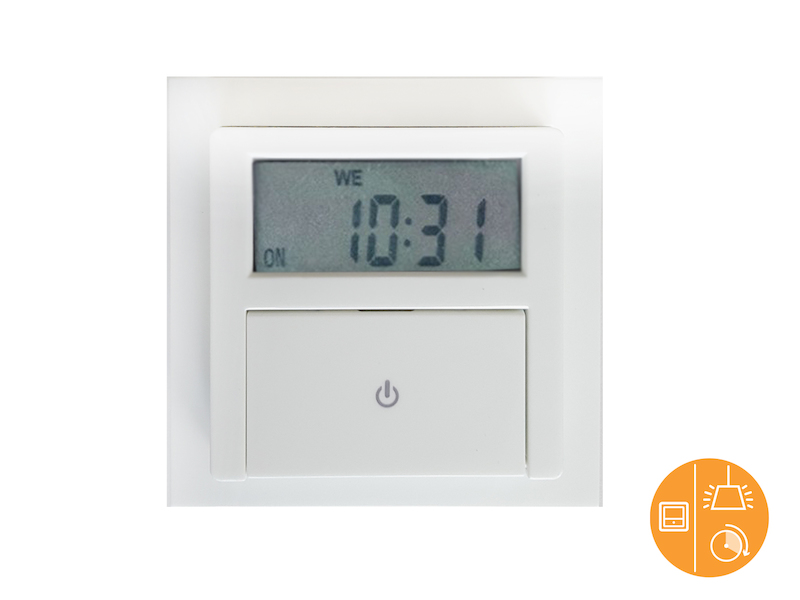 Digitale Unterputz Zeitschaltuhr inkl. Aufputzrahmen ca. 140 Schaltungen / Woche