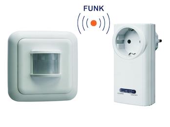 SmartHome Funk Schalter Set = Funk-Steckdose + Bewegungsmelder 3500W