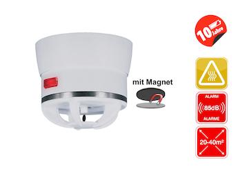 Mini Hitzemelder CAVIUS mit Magnethalter, 85dB