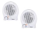 Elektroheizung in Weiß mit 3 einstellbaren Stufen und Thermostat im 2er Set