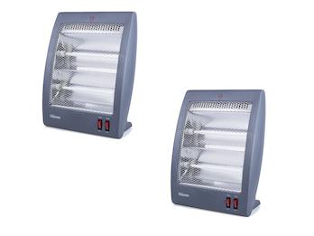 Elektroheizung Quartz mit 800 W und 2 einstellbaren Leistungsstufen im 2er Set