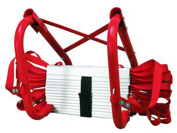 Feuerleiter Notfallleiter 4,5 m, Universal-Aufhänger, bis 450 kg belastbar