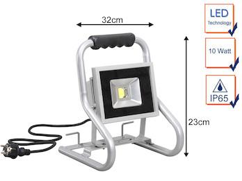 Tragbarer 20 Watt LED Baustrahler, IP65 Arbeitsleuchte & Baustellenlampe