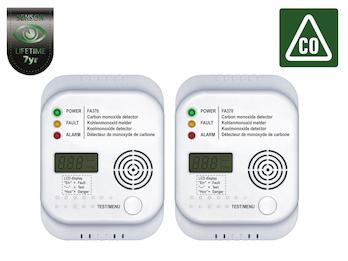 2er SET CO Kohlenmonoxid Gaswarn Melder CO Warner Gaswarngerät Gasmelder