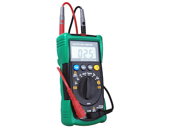 Multimeter, AC/DC-Spannung, Temperatur Widerstand, Dioden- und Durchgangsprüfung