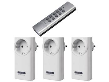SmartHome 3tlg.-Funkschalter-Set 2x Funk-Schalter und 1x Fernbedienung 3600 W