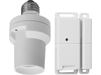 SmartHome Lampenfassung zur Lichsteuerung mit Magnetsender / Lichtschranke