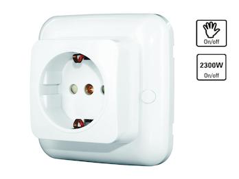 SmartHome Funk-Einbausteckdose mit Ein-/Aus-Empfänger, selbstlernend, max. 2300W