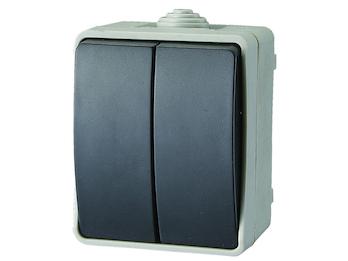 Aufputz-Serienschalter Feuchtraumschalter, Kunststoff, IP54