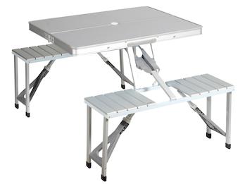 Picknicktisch / Campingtisch 136 x 86,5 x 67,5 cm - Klappsicherung