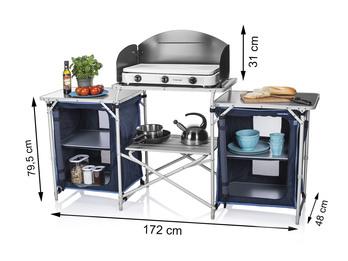 XXL Campingküche faltbar OUTDOOR KOCHEN Küchenschrank Küchenblock Campingschrank