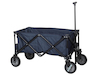Praktischer Klappbarer Bollerwagen in Blau mit Teleskopstange, Ladegewicht: 70kg