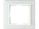 1-fach Rahmen/Schalter-/Steckdosenblende für den Innenbereich aus Glas