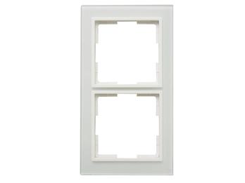 2-fach Rahmen/Schalter-/Steckdosenblende für den Innenbereich aus Glas